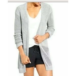 Athleta Open Front Cardigan Loose Knit Sweater